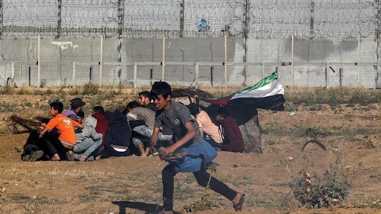 Gränsen mellan Israel och Gaza.