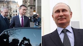 Halbe Zijlstra. Till höger: Putin.