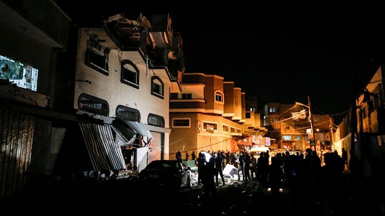 Israelisk militär slog till mot befälhavarens hem vid Gazaremsan.