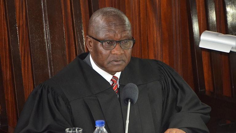 Francis Korkpor, ordförande högsta domstolen i Liberia.