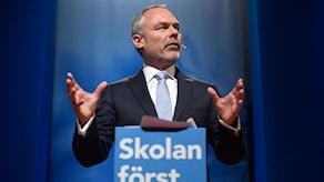 Partiledare Jan Björklund inledningstalar på Liberalernas riksmöte på Aros Congress Center i Västerås.