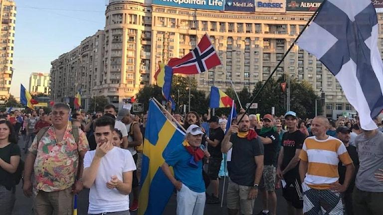 Protester i Bukarest