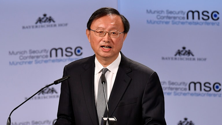 Yang Jiechi, högste ansvarige för Kinas utrikespolitik under säkerhetskonferensen.