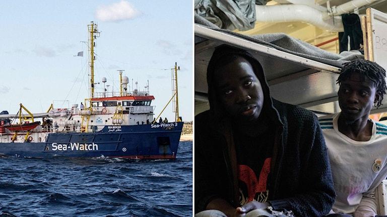Räddningsfartyget Sea Watch och migranter ombord