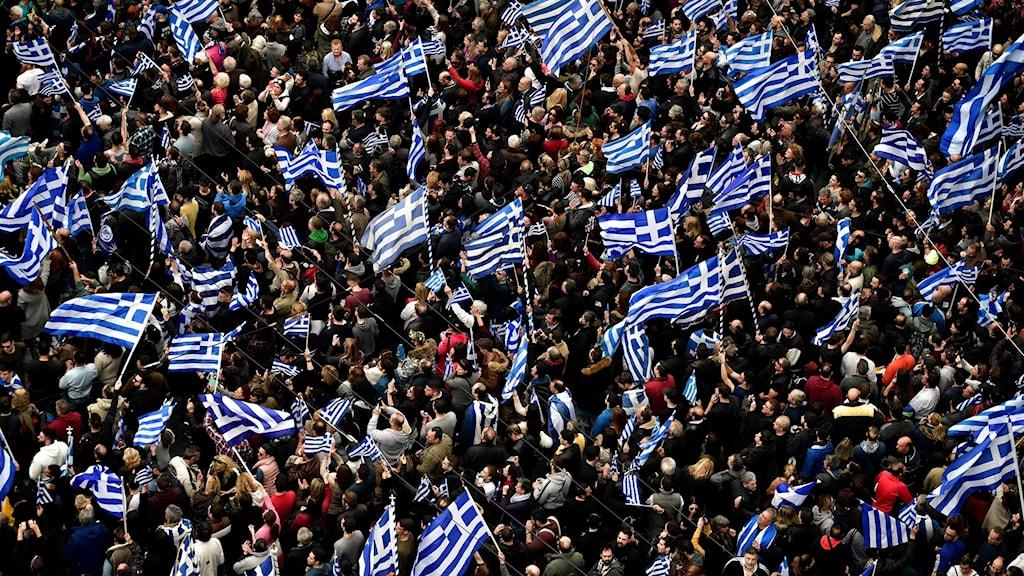 Aten protester Makedonien