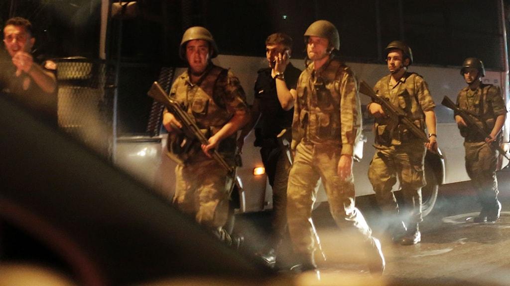 Militärkuppen i Turkiet i somras (arkivbild). Foto:Bulent Kilic/AFP: