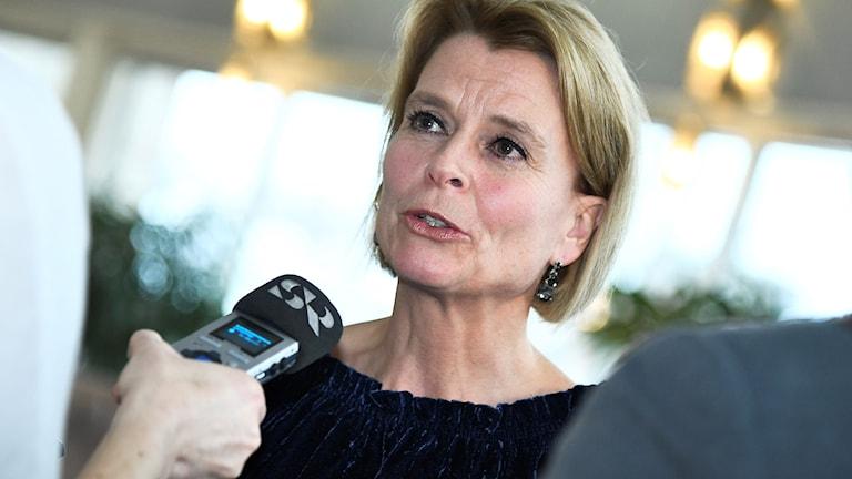 Jämställdhetsminister Åsa Regnér (S) efter måndagens Riksdagsdebatt angående Metoo-uppropen.