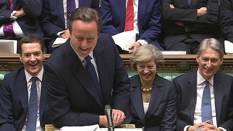 Cameron höll sin sista frågestund i parlamentet i dag.