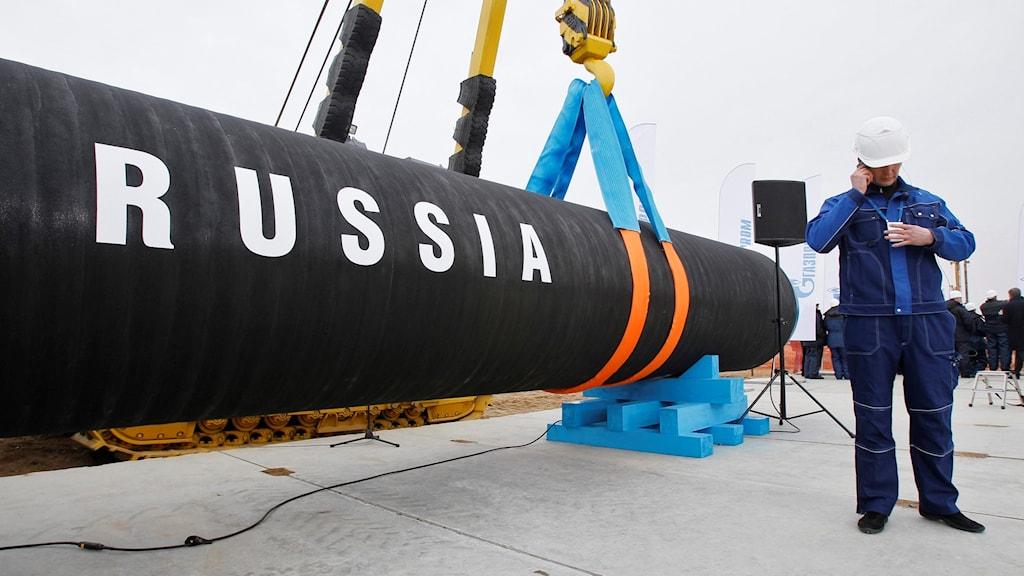 Karlshamns kommun väntas inom kort fatta beslut om rör till den ryska gasledningen Nord Stream 2 ska få lagras i kommunens hamn. Arkivbild