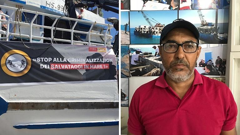 Dykaren Khenisii Mohsen vågar inte längre hjälpa till efter att flera tunisiska fiskare gripits.
