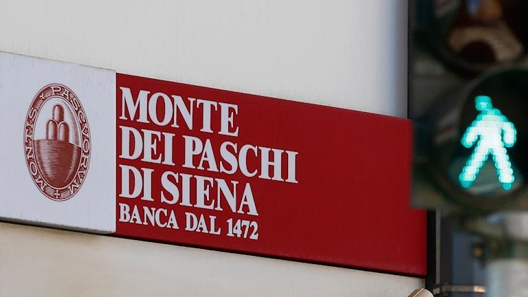 Den italienska banken Monte dei Paschi di Siena