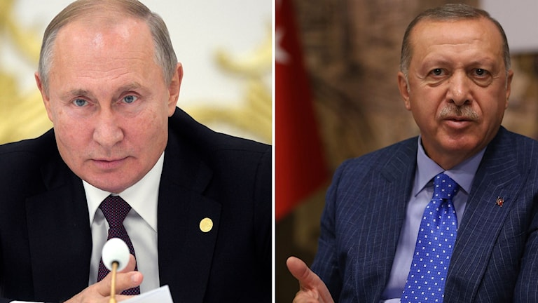 Vladimir Putin och Recep Tayyip Erdogan