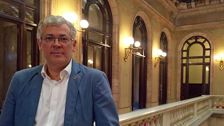 Jordi Sendra är separatistisk regionpolitiker i Katalonien
