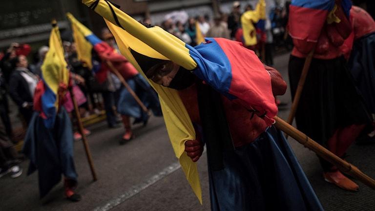 protest Bogota Colombia