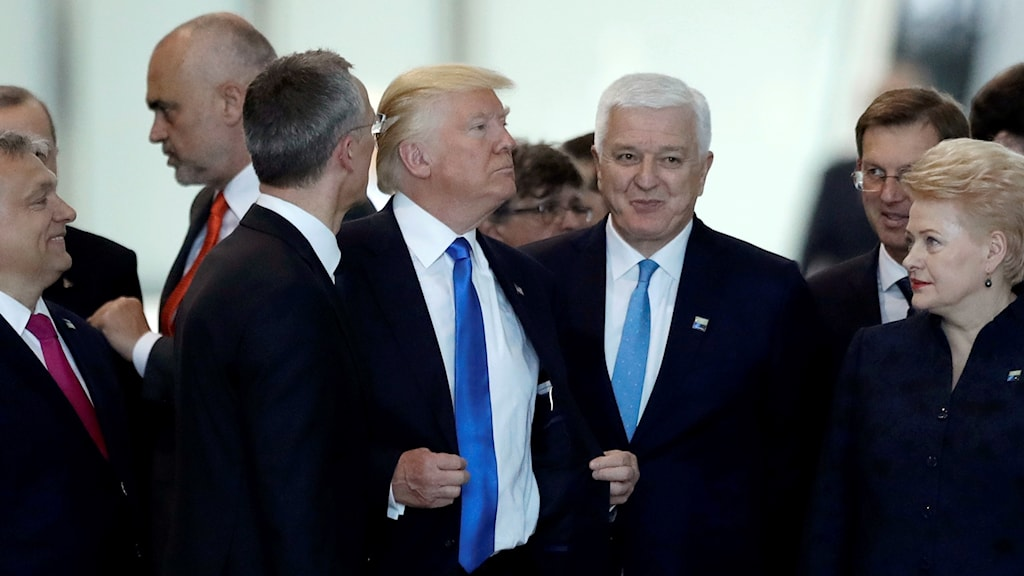 USA:s president Donald Trump och Montenegros premiärminister Dusko Markovic.