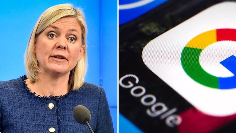 Magdalena Andersson och Google