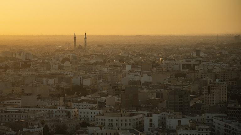 Vy över Libyens huvudstad Tripoli