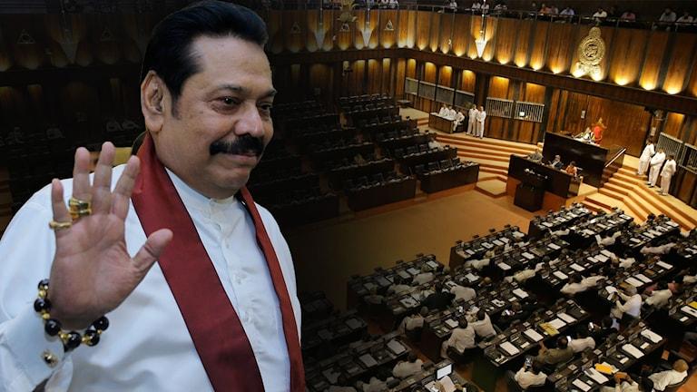 I Sri Lanka har den omstridde premiärministern Mahinda Rajapaksa idag avgått.