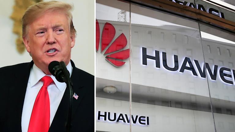 Donald Trump och Huawei.