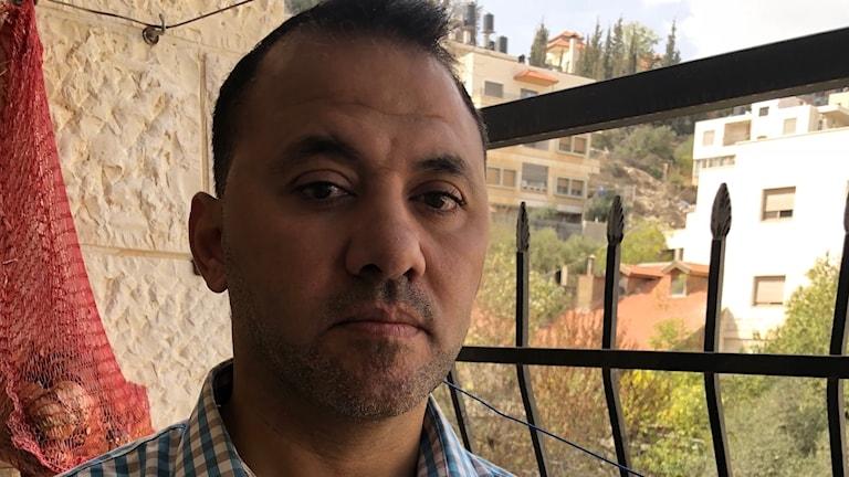 Den palestinska journalisten Tareq Abuzaid.