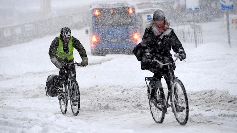 Snöoväder (arkivbild). Foto: Jonas Ekströmer/TT.