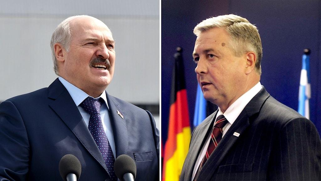 Alexander Lukasjenko och Vladimir Semashko.