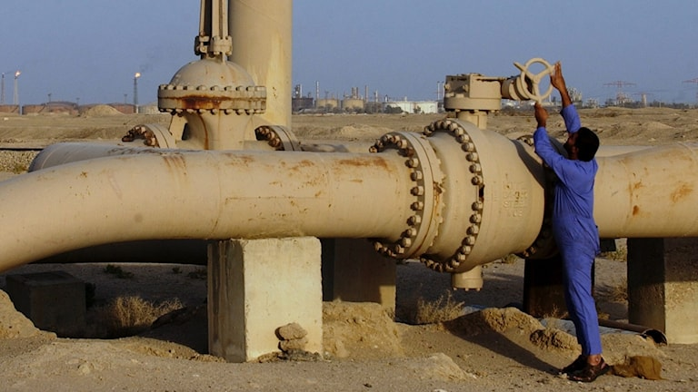 Oljeledning i Irak.
