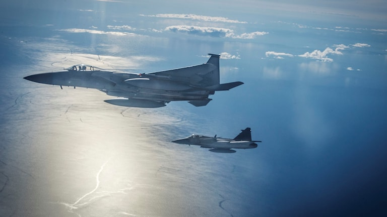 Sweden during a military exercise with NATO above the Baltic Sea. Photo: Yvonne Åsell/SvD/TT