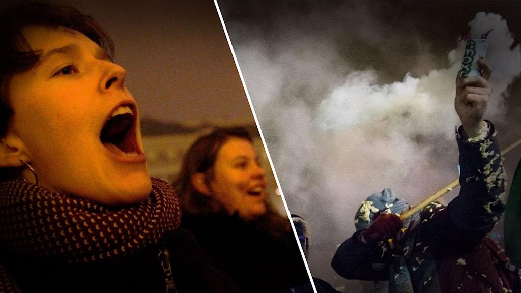 Budapest: Rökgranater mot polisen