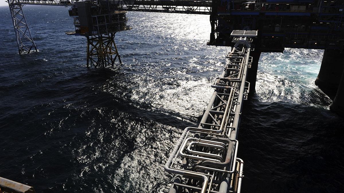 Sleipner-plattformen i Nordsjön.