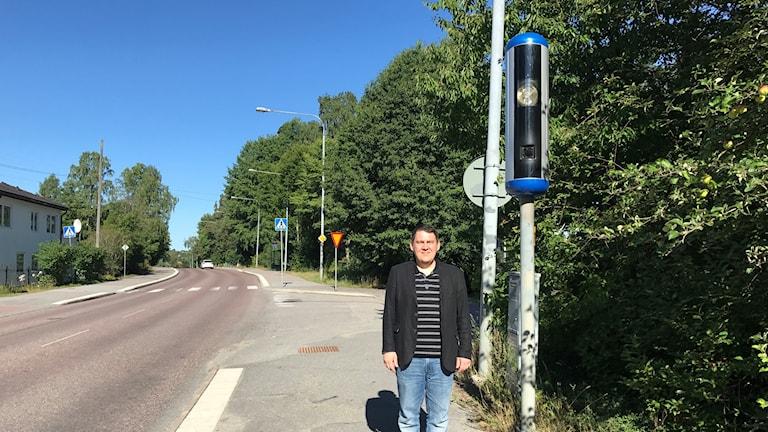 Amir Spachovic, trafikingenjör Huddinge kommun.