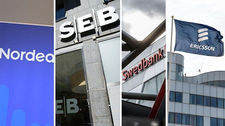 Nordea, SEB, Swedbank, Ericsson