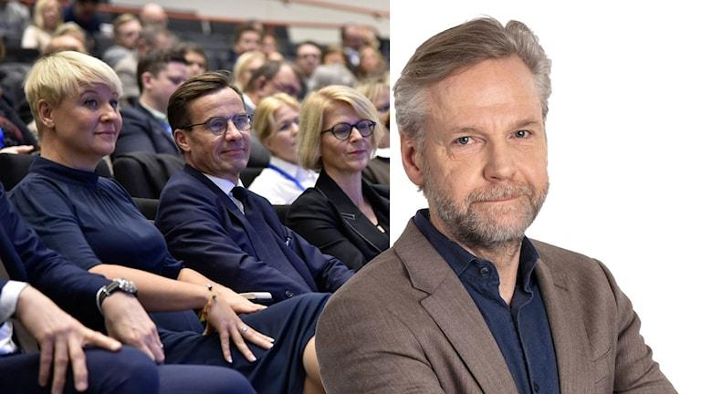Kollage av Moderatstämman och Tomas Ramberg.