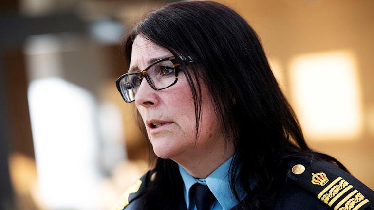 Petra Stenkula, chef på polisens utredningsenhet i Region Syd