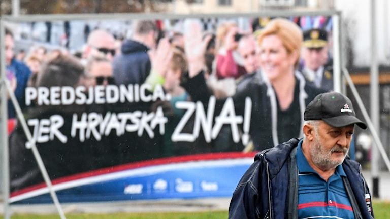 Valaffischer till stöd för Kroatiens nuvarande president Kolinda Grabar-Kitarovic.