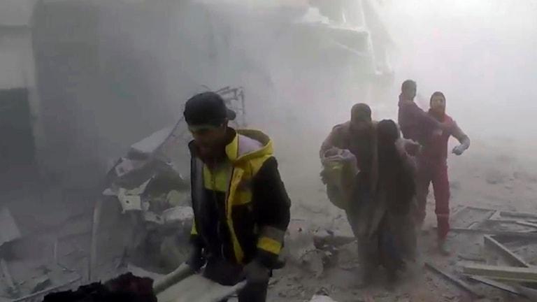 Bilder från gårdagen i Ghoutaregionen.
