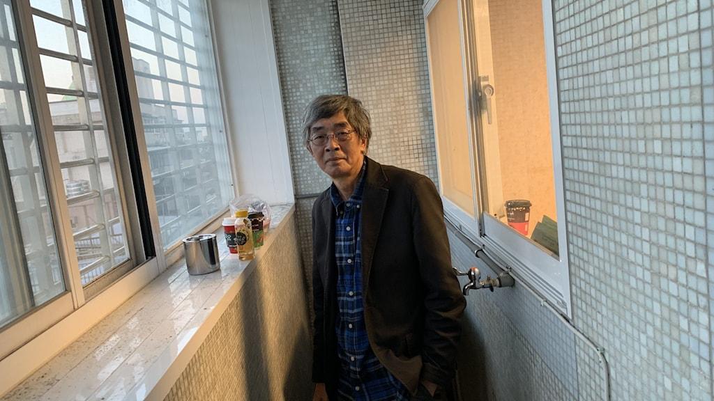Bokhandlaren Lam Wing-kee som numera bor i Taipei, Taiwan. Han vågar inte längre bo kvar i sin hemstad Hongkong på grund av hotet han ser från Kinas kommunistparti.