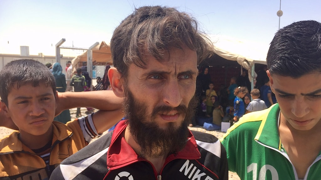 Amer Saber som precis flytt från Zindjili i Mosul.