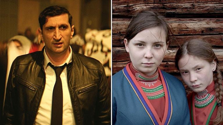 Till höger: Fares Fares i The Nile Hilton Incident. Till vänster: Lene Cecilia Sparrok i Sameblod.
