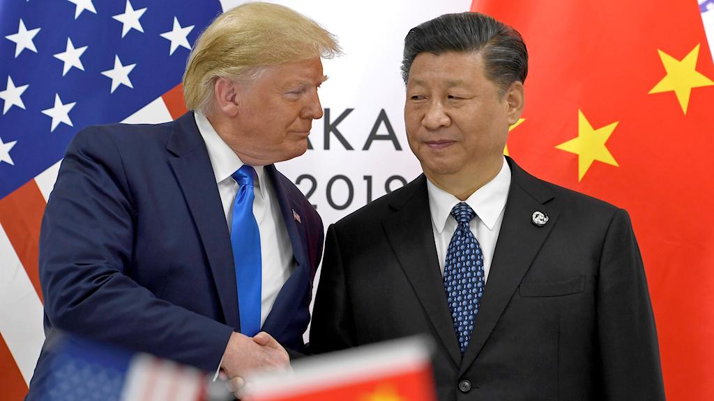 USA:s president Donald Trump möter Kinas ledare Xi Jinping under förra årets G20-möte.