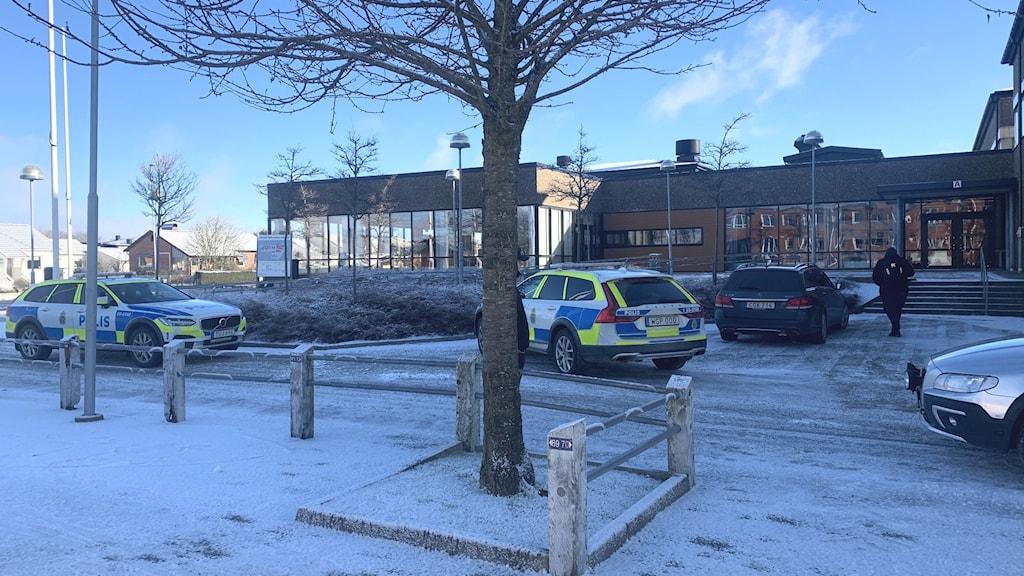Elev knivskars på PS-gymnasiet i Varberg.