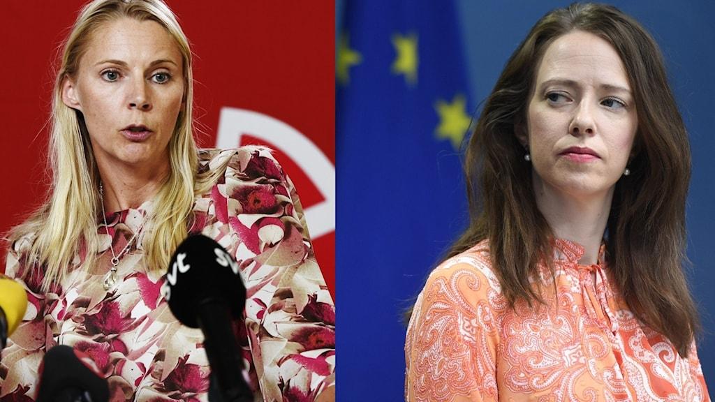 Åsa Lindhagen och Åsa Westlund