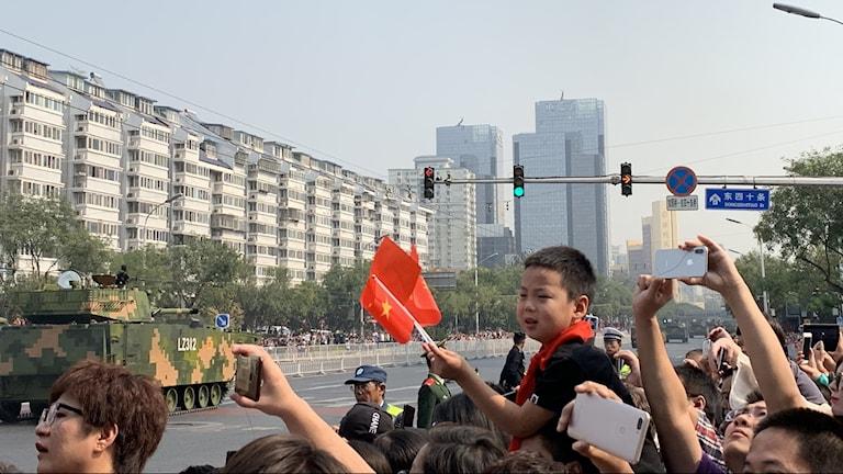 Patriotiskt firande av kinesisk nationaldag
