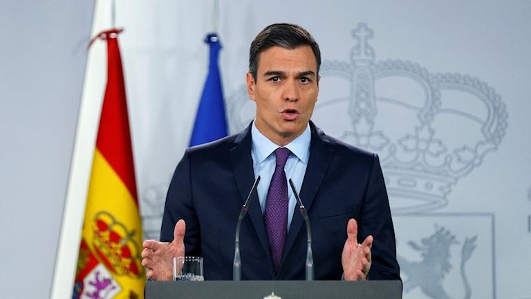 Spaniens premiärminister Pedro Sanchez.
