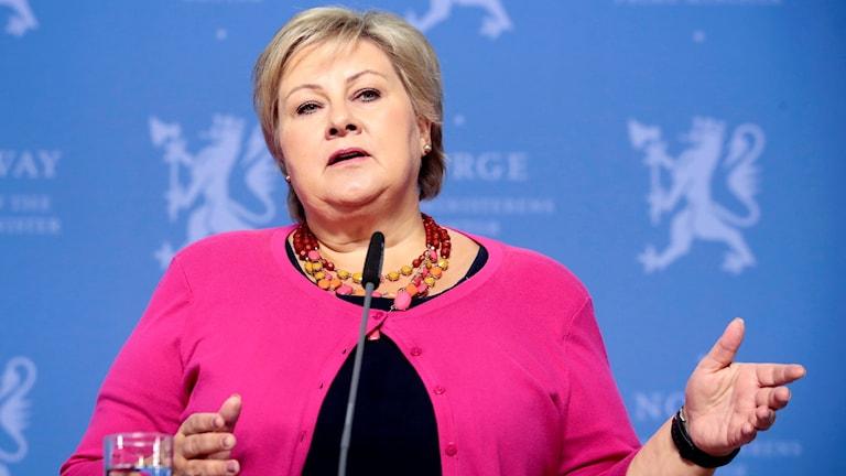 Erna Solberg vinnare av valet i Norge