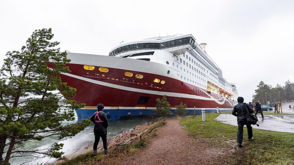 Finland Sweden Ferry Aground