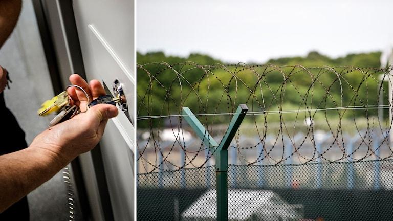 fängelsecell och taggtråd