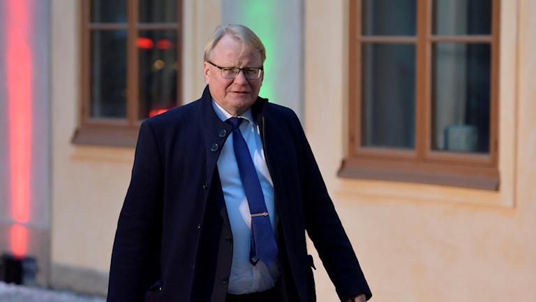 Försvarsminister Peter Hultqvist (S) ef