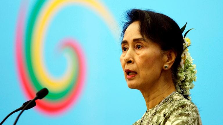Burmas ledare Aung San Suu Kyi.
