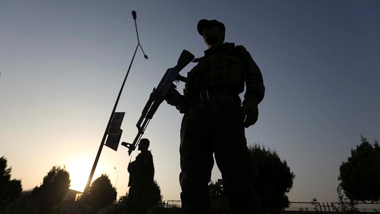 Arkivbild. En soldat ur den afghanska säkerhetsstyrkan.